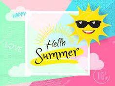 Vetor stock de Hello Summer Banner Vector Illustration Template (livre de direitos) 654784156 - New Ideas Tropical Background, Retro Background, Happy Summer Holidays, Tropical Frames, Summer Banner, Cute Sun, Romantic Cards, Banner Vector, Hello Summer