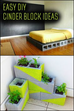 Cinder blocks are great for both outdoor and indoor purposes. And you can consider them as Legos for adults!