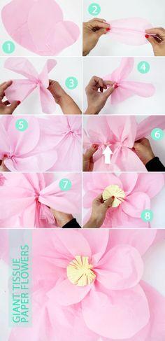 Tutorial: Giant Tissue Paper Flowers | PepperDesignBlog.com