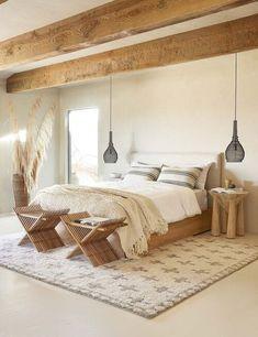 Bedroom Inspo, Home Bedroom, Bedroom Furniture, Bedroom Ideas, Bali Bedroom, Bedroom Neutral, Light Bedroom, Bedroom Signs, Furniture Design