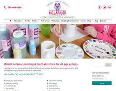 ie website for mobile craft parties & workshops for children, adults, hen parties, wedding entertainment. Website built by format.ie web designers Sligo.