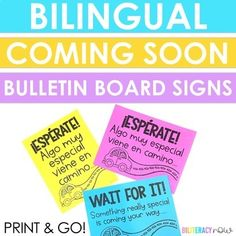 Spanish & English! Does your student work bulletin board look lonely? No worries! Download this PUNtastic freebie (comes in English & Spanish) as a placeholder for your students' work! It now includes portrait and landscape versions!Visit my store, Biliteracy Now, for all your Spanish needs!