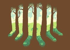 Threadless T-Shirts - Can't See The Forest But For The Socks by Graye Smith