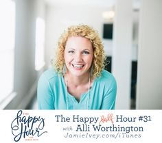 The Happy Half Hour #31 with Jamie Ivey &  Alli Worthington - My guest for The Happy Half Hour #31 is my friend, Alli Worthington. Alli is the author of Breaking Busy and Fierce Faith, business coach, advisor and Executive Director of Propel Women. Alli's no-nonsense, guilt-free take on business, family, and balance has lead to appearances on The Today Show and Good Morning America. She loves to speak at women's conferences and business events. Alli, her husband, Mark, and their five sons…