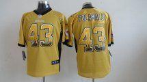 Pittsburgh Steelers #43 Troy Polamalu Elite Yellow Drift Fashion