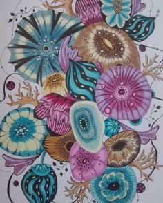 #botanicalwonderland #adultcolouringbook #rachelreinertstudio #rachelreinert #coloriage #polychromos #prismacolor #irojiten