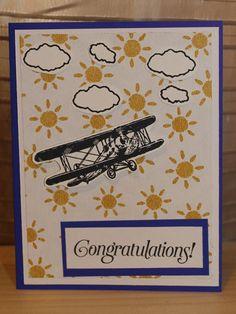 Airplane Congratulations Card by CreateByCait on Etsy