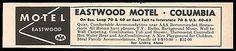 Eastwood Motel Ad Columbia Missouri 1964 Playground TV Radio Roadside Ad Travel