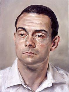 Portrait by Michael Borremans 2005 Artist Painting, Painting & Drawing, Figure Painting, Michael Borremans, Flash Art, Realistic Drawings, Portrait Art, Male Portraits, Portrait Paintings