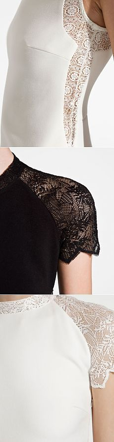 шитье Lacy ideas for heat / Lace / With his hands - patterns, alteration of clothing, interior decoration with your own hands - on Second Street Diy Clothing, Sewing Clothes, Fashion Sewing, Diy Fashion, Pullover Shirt, Techniques Couture, Creation Couture, Fashion Details, Refashion