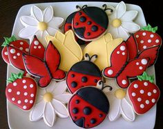 Garden Party Decorated Sugar Cookies by DolceDesserts on Etsy, $60.00