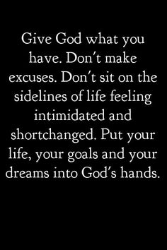 Yes! No more trying to control my life myself and end up beat. God take the reigns and order my steps in your word.