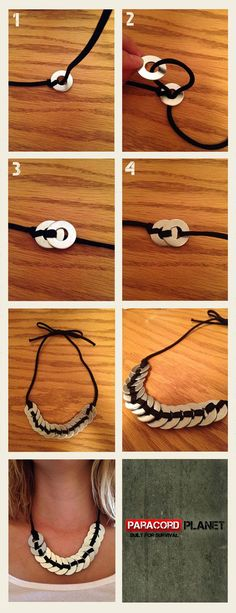 #HowTo: Make a necklace with just paracord and washers.