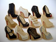 These Louboutin inspired cookies look too cute to eat.