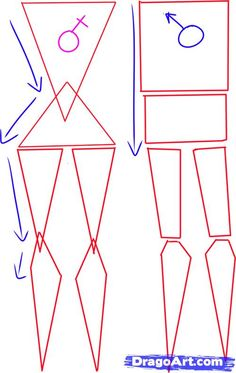 how to draw a female body step 1