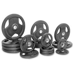 Buy Xmark Premium Quality Rubber Coated Tri-grip Olympic Plate Weights - 345 lb. Set at FitnessGearUSA.Com for only $ 652.00  sc 1 st  Pinterest & Weight Plates 179817: Cap Barbell Rubber Olympic Bumper Plate ...