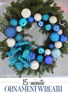 15-Minute DIY Christmas Ornament Wreath