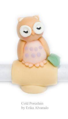 cold porcelain owl