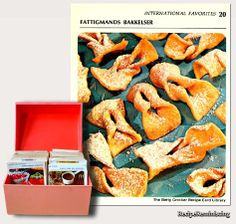 """Fattigmands Bakkelser – Traditional Norwegian Christmas Cookies - A recipe from """"Betty Crocker Recipe Card Library"""" published in 1971 - It was a bit surprising to find such a to all Norwegians well known Christmas cookie among the recipes on The Betty Crocker Cards."""
