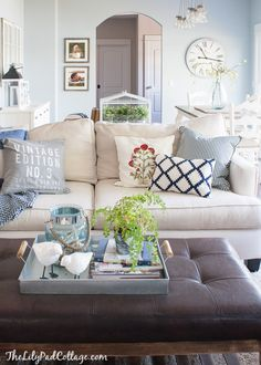 The Chic Technique: Living Room Decor - Finally Revealed! - The Lilypad Cottage New Living Room, Home And Living, Living Room Decor, Living Spaces, Cottage Living, Cozy Living, Modern Living, Home And Deco, Living Room Inspiration