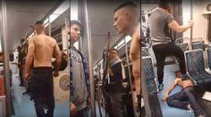 Amenazaba a todos en el metro hasta que lo noquearon - TVEstudio