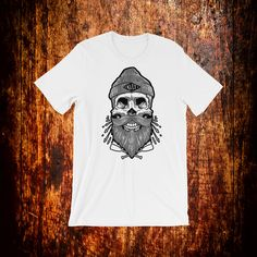 Items similar to Kult Beard Gifts, Skull Shirts, Primary Colors, Fabric Weights, Trending Outfits, Mens Tops, Etsy, Fashion, Moda
