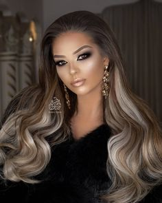 Formal Hairstyles For Long Hair, Bride Hairstyles, Pretty Hairstyles, Beautiful Long Hair, Gorgeous Hair, Wig Styles, Long Hair Styles, Glamorous Hair, Hair Color And Cut
