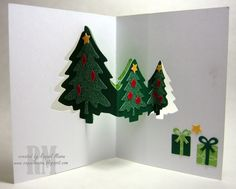 Pop It Ups Evergreen Pivot Card - Dies: Evergreen Pivot (Karen Burniston for Elizabeth Craft Designs)