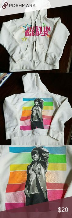 "Child's  Justin Bieber sweatshirt/hiodie ""Vintage"" Justin Bieber sweatshirt/hoodie from back when .  Child's size S. Prob fits 8/10ish. Hardly worn. No stains or tears or obvious signs of wear.  Tag has child's name on it. Shirts & Tops Sweatshirts & Hoodies"