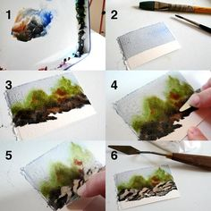 Carving Rocks in Watercolor  I love creating rocks in my watercolor landscapes.  Here is how I do it:  1.  Start with a mixture of thick, st...