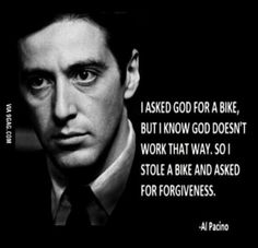 Enjoy the best of Al Pacino quotes. Movie Quotes by Al Pacino, American Actor. You wanna fuck with me? Scarface Quotes, Godfather Quotes, The Godfather, Goodfellas Quotes, Gangster Quotes, Badass Quotes, Al Pacino, Movie Quotes, Funny Quotes