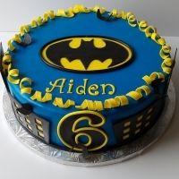 Batman birthday cake for Gabe.