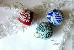 Find and save knitting and crochet schemas, simple recipes, and other ideas collected with love. Glass Christmas Ornaments, Christmas Decorations, Holiday Decor, Beaded Embroidery, Knit Crochet, Crochet Earrings, Knitting, Crafts, Handmade
