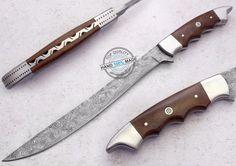 "13.00"" Custom made Awesome Damascus steel fillet Knife (AA-0367-23) #UltimateWarrior"