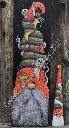 Gnomes and Hisses by Deb Antonick, email pattern packet Fall Crafts, Holiday Crafts, Crafts To Make, Arts And Crafts, Fall Halloween, Halloween Crafts, Tole Painting Patterns, Wood Patterns, Henna Patterns