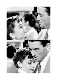Audrey Hepburn & Gregory Peck in 'Roman Holiday' <3