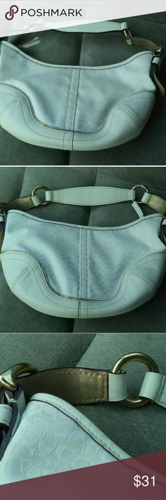 White and gold coach purse Never used in amazing condition Coach Bags