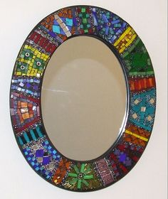 Idea for a mosaic mirror frame