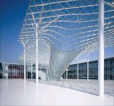 vortex | glass and steel structure above the walkway | New Trade Fair in Milan | Massimiliano & Doriana Fuksas Architects