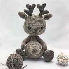 Ravelry: JIM tiny deer pattern by Nadya Titova Crochet Animal Patterns, Crochet Patterns Amigurumi, Amigurumi Doll, Crochet Animals, Crochet Dolls, Crochet Deer, Cute Crochet, Deer Pattern, Crochet Basics
