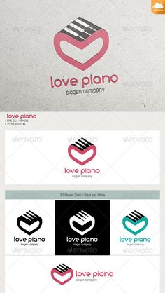 Love Piano — Vector EPS #music #sound • Available here → https://graphicriver.net/item/love-piano/6384705?ref=pxcr