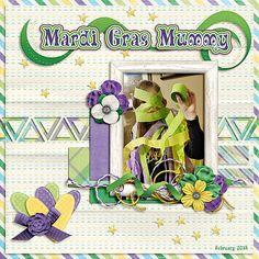 Mardi Gras Mummy - Scrapbook.com