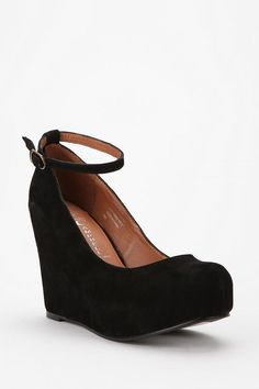 """Jeffrey Campbell Suede Adelaide Wedge (Um, you had me at """"Adelaide,"""" guys.)"""
