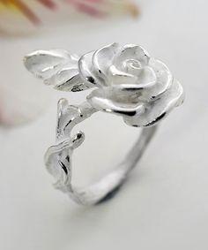 Sterling Silver Sugar Rose Ring #zulily #zulilyfinds