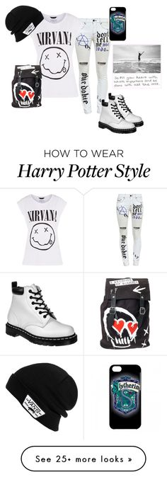 """Rock on!!!"" by blackveilbridesbvbsixx on Polyvore featuring Filles à papa, Dr. Martens and Vans"