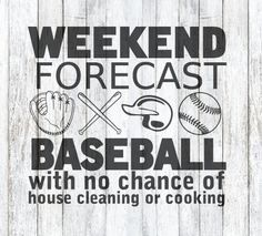 Weekend Forecast Baseball SVG File by theSVGshop on Etsy