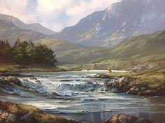 Eilleen Meagher: Cattle at Barnanoraun, near Clifden, Connemara Erin Go Bragh, Irish Art, Connemara, Contemporary Paintings, Ancestry, Travel Posters, Old Photos, Ireland, Art Gallery
