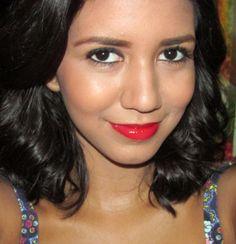 maquiagem, batom vermelho, bronze, bonita, beautiful, red lips, make up, short hair, cabelo curto, ondas