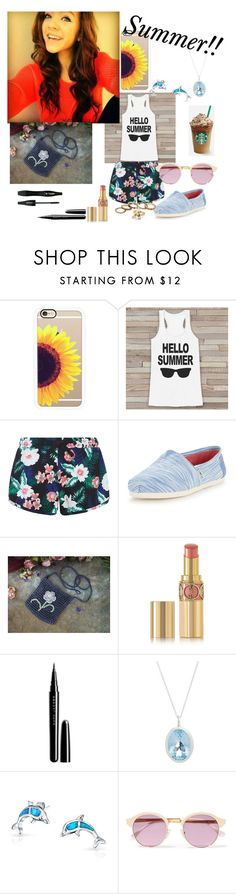 """""""Summer & Standing out."""" by emo-presley ❤ liked on Polyvore featuring Casetify, New Look, TOMS, Yves Saint Laurent, Lancôme, Marc Jacobs, Augustine Jewels, Bling Jewelry and Sheriff&Cherry"""