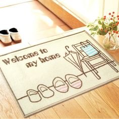 New Pastoral style Home Carpet multiple Colour Floor Carpets Rugs for Bedroom Bathroom Living Room 3D Mats Kitchen Entrance Mat